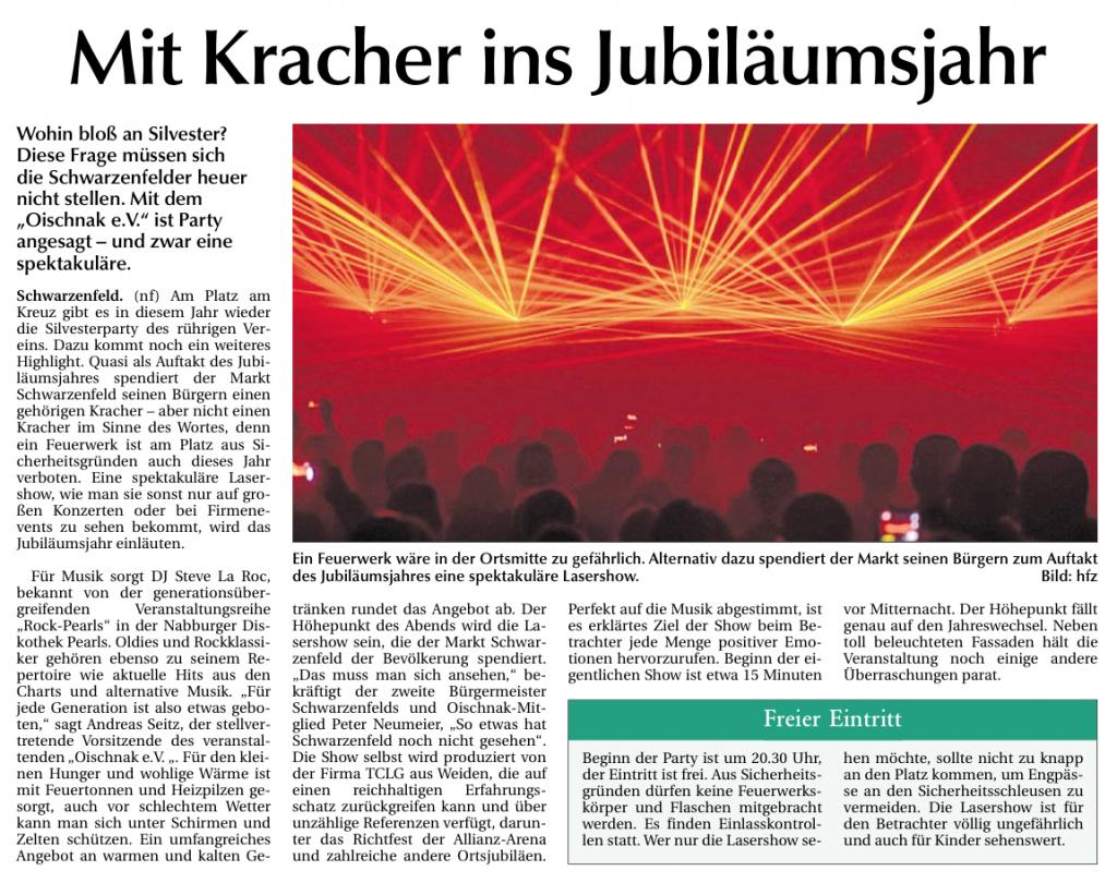 NT: Mit Kracher ins Jubiläumsjahr  - 15. Dezember 2014
